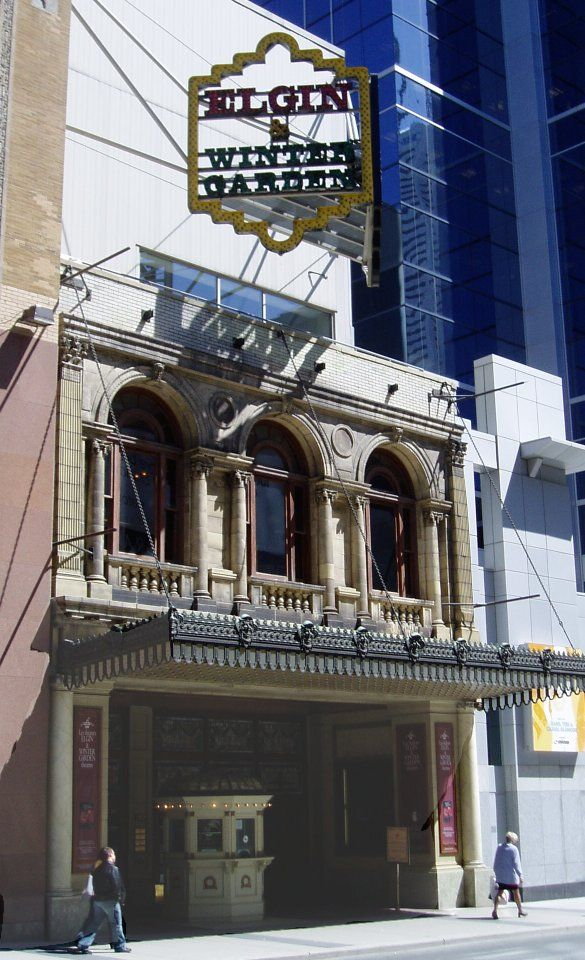 Facade of the double-decker Elgin and Wintergarden Theatre
