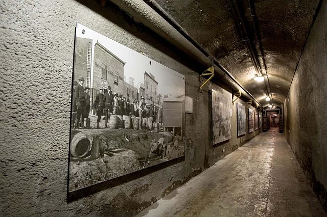 Underground Passage containing the Toronto's Dark Side exhibit