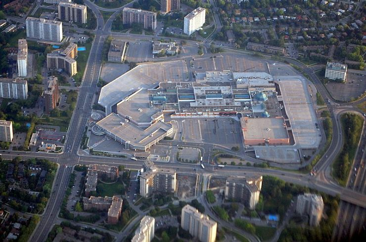 Aerial view of Fairview Mall