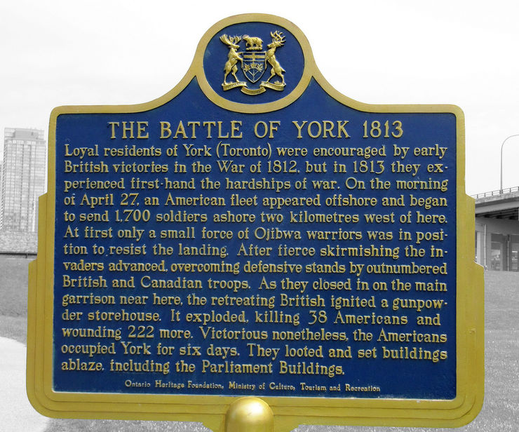 Battle of York Historic Marker