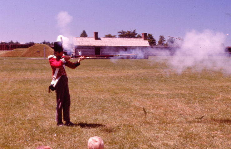 Fort York Musket Shooting Demonstration