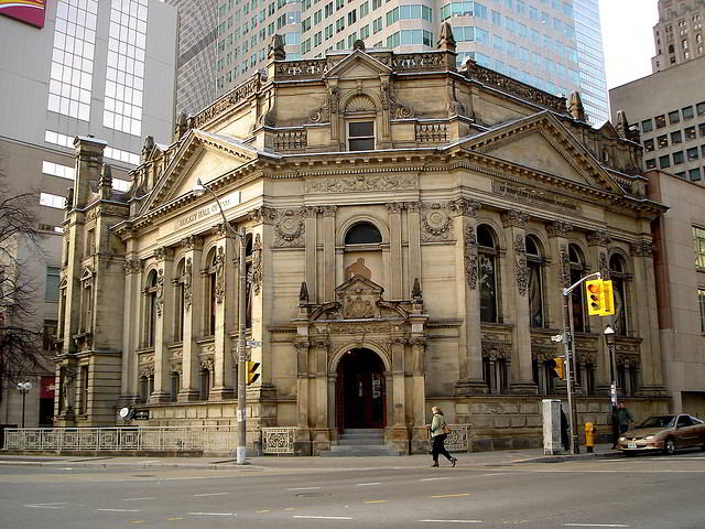 The Hockey Hall of Fame is located in one of many historic Toronto buildings your will see during this walk