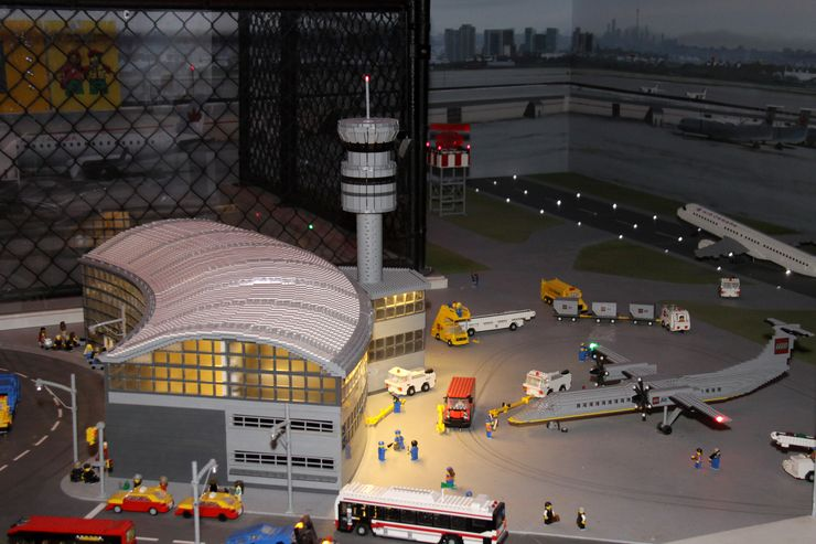 Miniature Replica of Pearson International Airport at Legoland Toronto