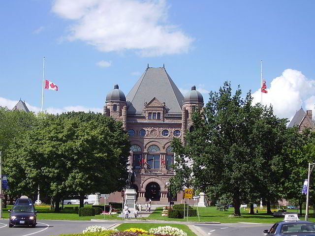 The Ontario Legislative Building in Queen's Park
