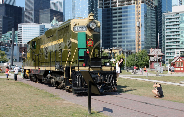 Restored CN 4803 Diesel Locomotive