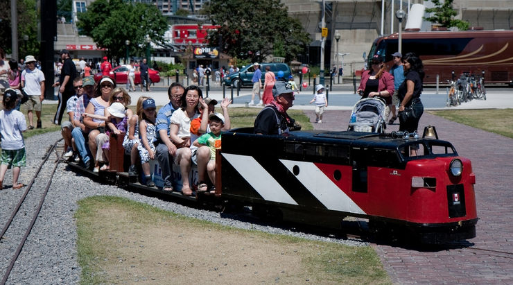 The Miniature Railway in Roundhouse Park is great fun for families