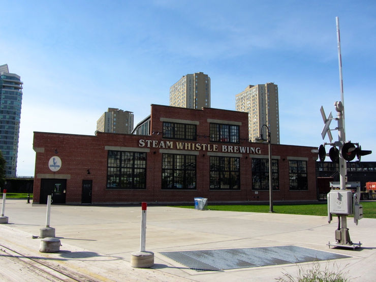 Home of the Steam Whistle Brewing Company in Roundhouse Park