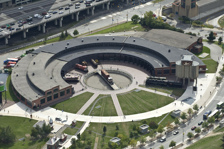 Aerial View of Roundhouse Park in Toronto