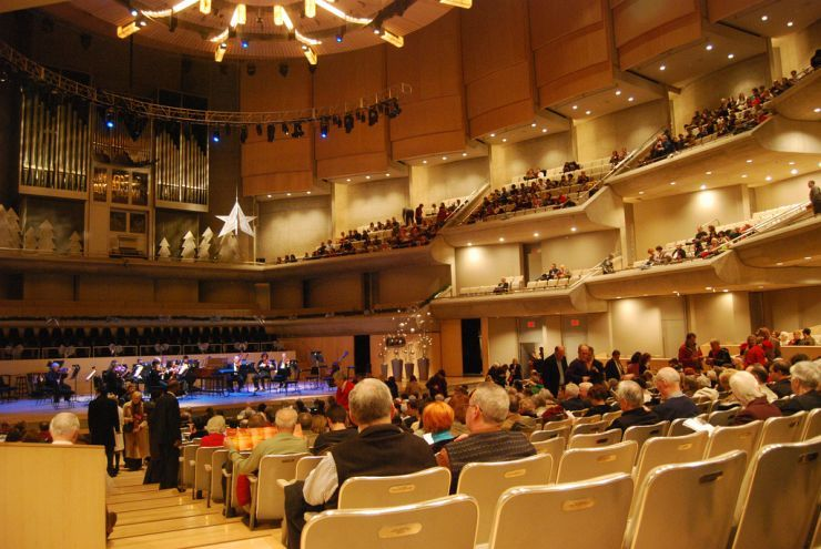 Interior of the Roy Thomson Hall in Toronto