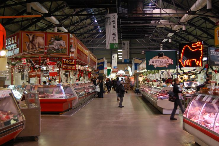 Inside the St. Lawrence Market