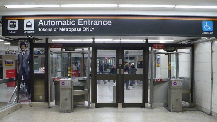 TTC Automated Subway Entrance
