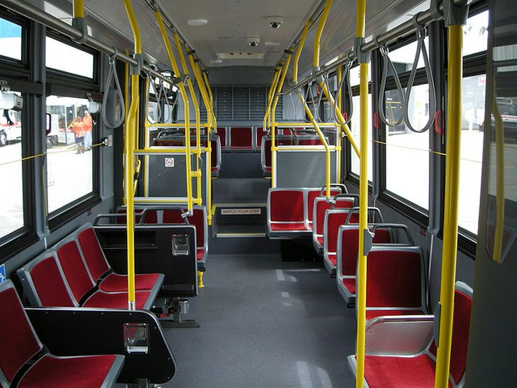 Interior of a Toronto transit bus