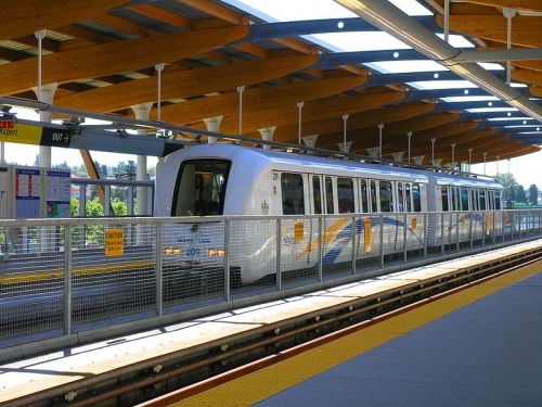 Vancouver SkyTrain at Rupert Station on the Millennium Line