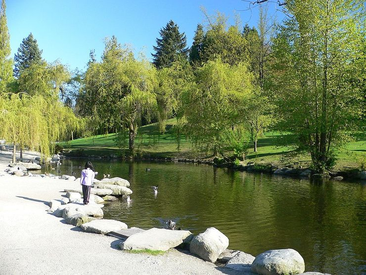 One of the scenic ponds in Queen Elizabeth Park