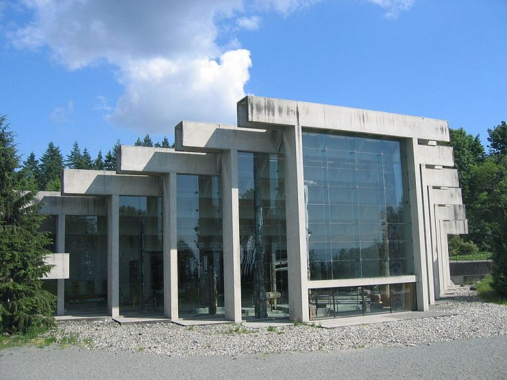 Exterior of the Museum of Anthropology designed by Arthur Erickson
