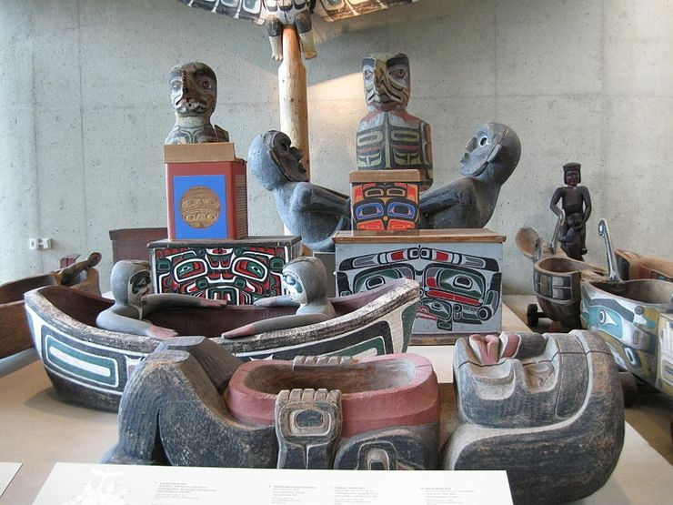 Native artifacts inside the Museum of Anthropology