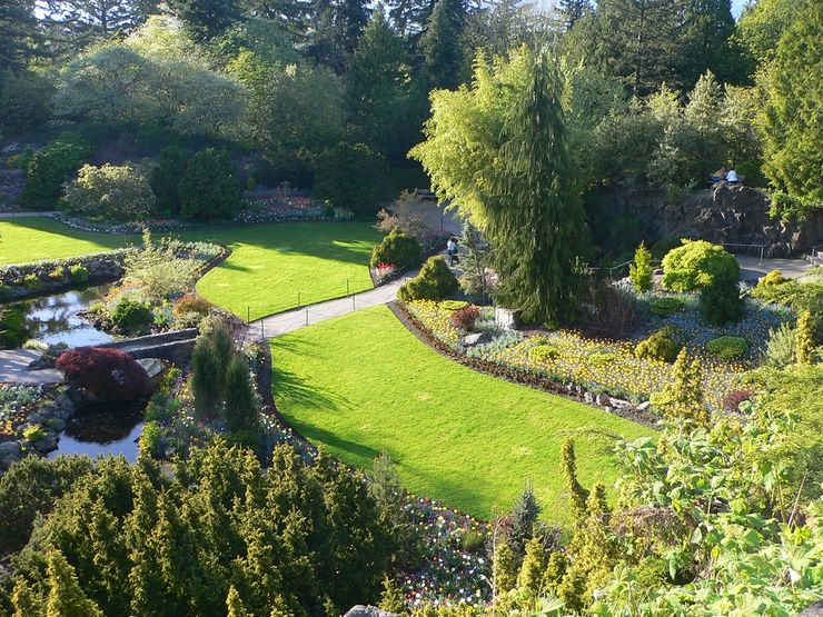 Queen Elizabeth Park's beautiful Quarry Garden is a popular spot for wedding photos
