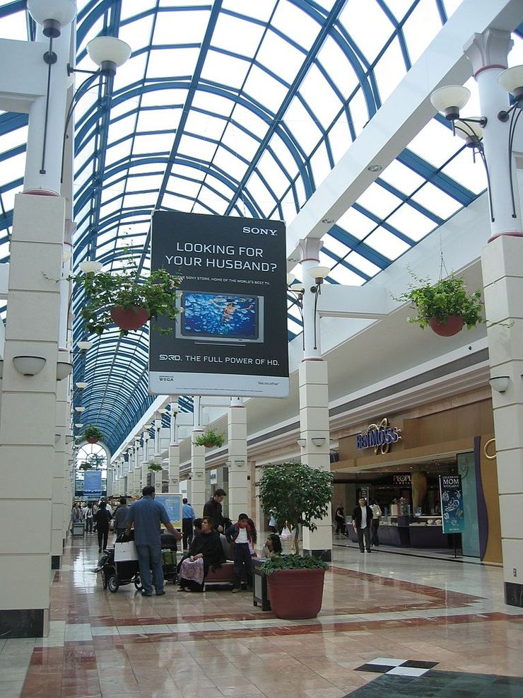 Inside Richmond Centre Mall
