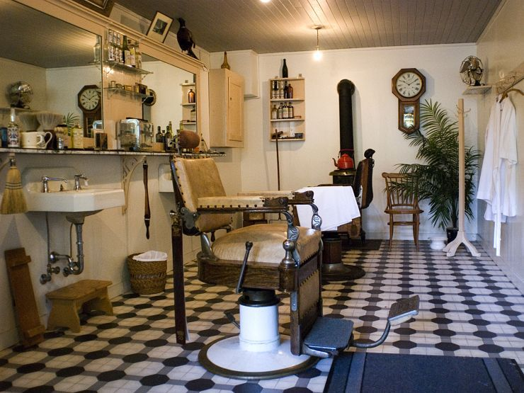 Barbershop in Burnaby Village Museum