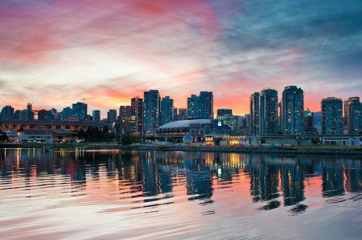 Sunset over False Creek