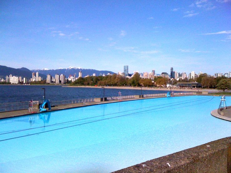 Kitsilano Beach Outdoor Pool is the longest in Canada