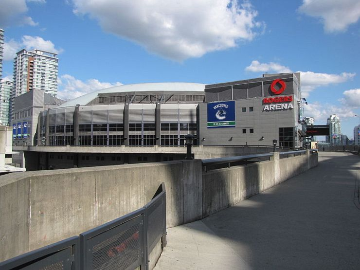 Rogers Arena in Vancouver