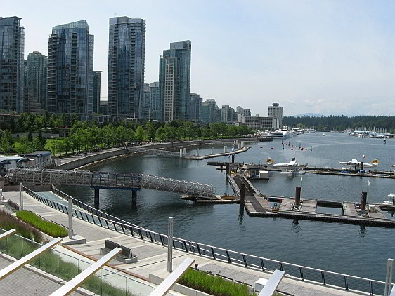 Vancouver Harbourfront Looking West Towards Stanley Park