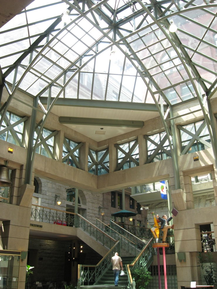 Atrium roof in Sinclair Centre