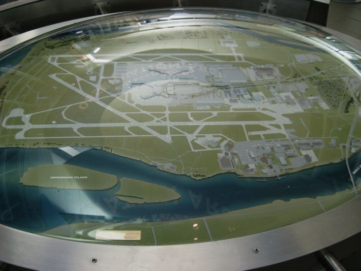 Interactive model of the Vancouver International Airport