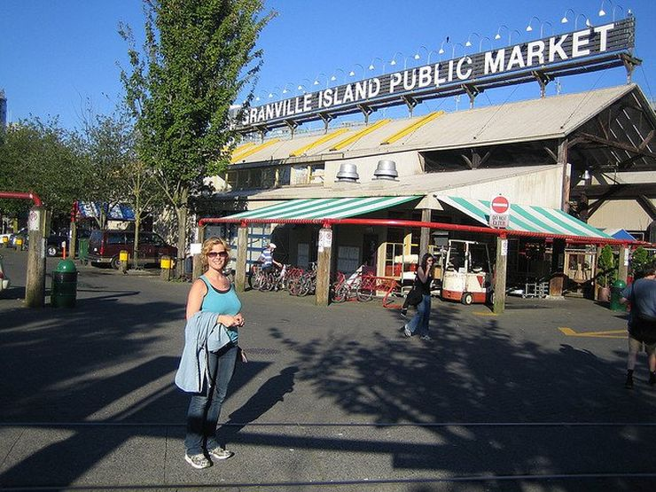 Enjoying a sunny day at Granville Island