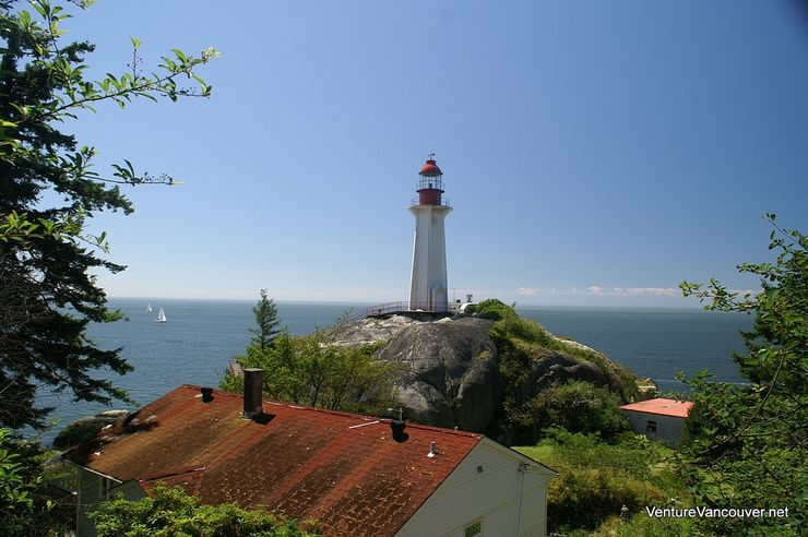 Beautiful view of the Lighthouse in Lighthouse Park on Point Atkinson