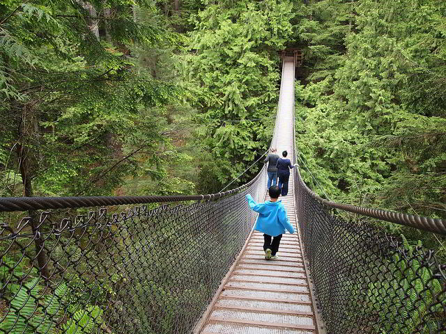 Lynn Canyon Suspension Bridge spanning Lynn Creek