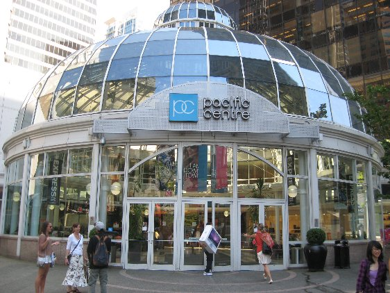 Entrance to Pacific Centre Mall in Downtown Vancouver