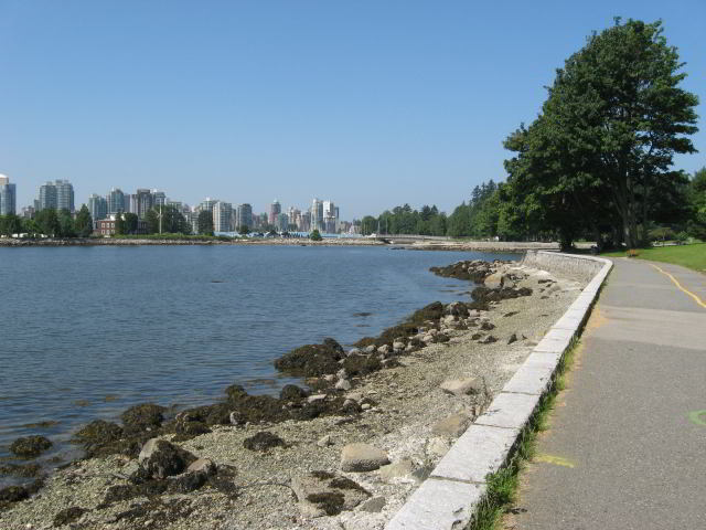 You can walk for 8km around the perimeter of Stanley Park on the seawall