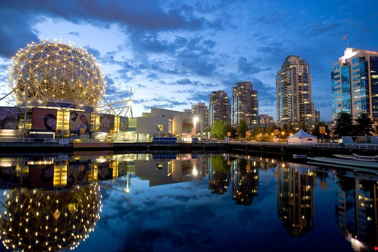 View of Science World Vancouver from False Creek