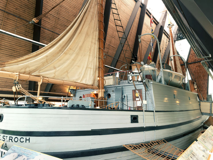 The magnificent St. Roch inside the Vancouver Maritime Museum