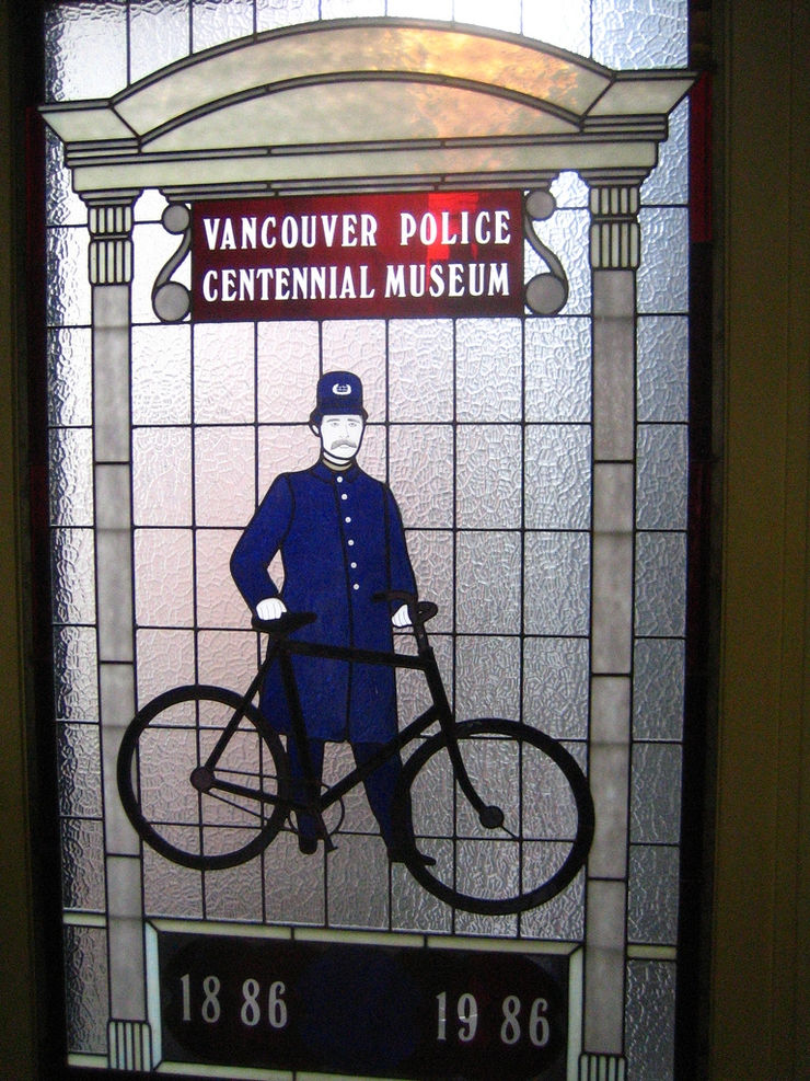Neat stained glass window at the Vancouver Police Museum