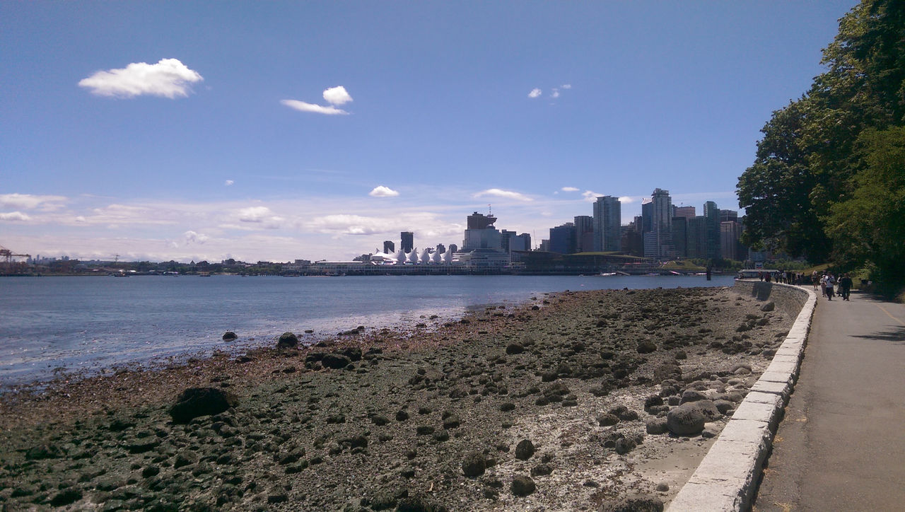 View toward Downtown Vancouver from the Stanley Park Seawall